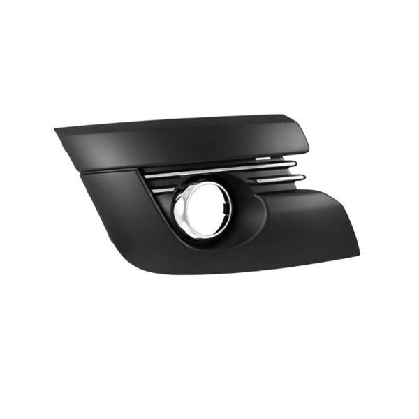 grille de pare chocs avant droite noir chrome avec emplacement antibrouillard pour peugeot. Black Bedroom Furniture Sets. Home Design Ideas